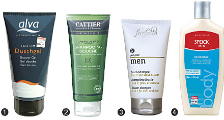 Produkte Duschgel und Shampoo