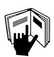 Hand im Buch