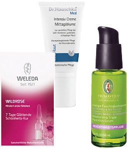 Produkte für durstige Haut